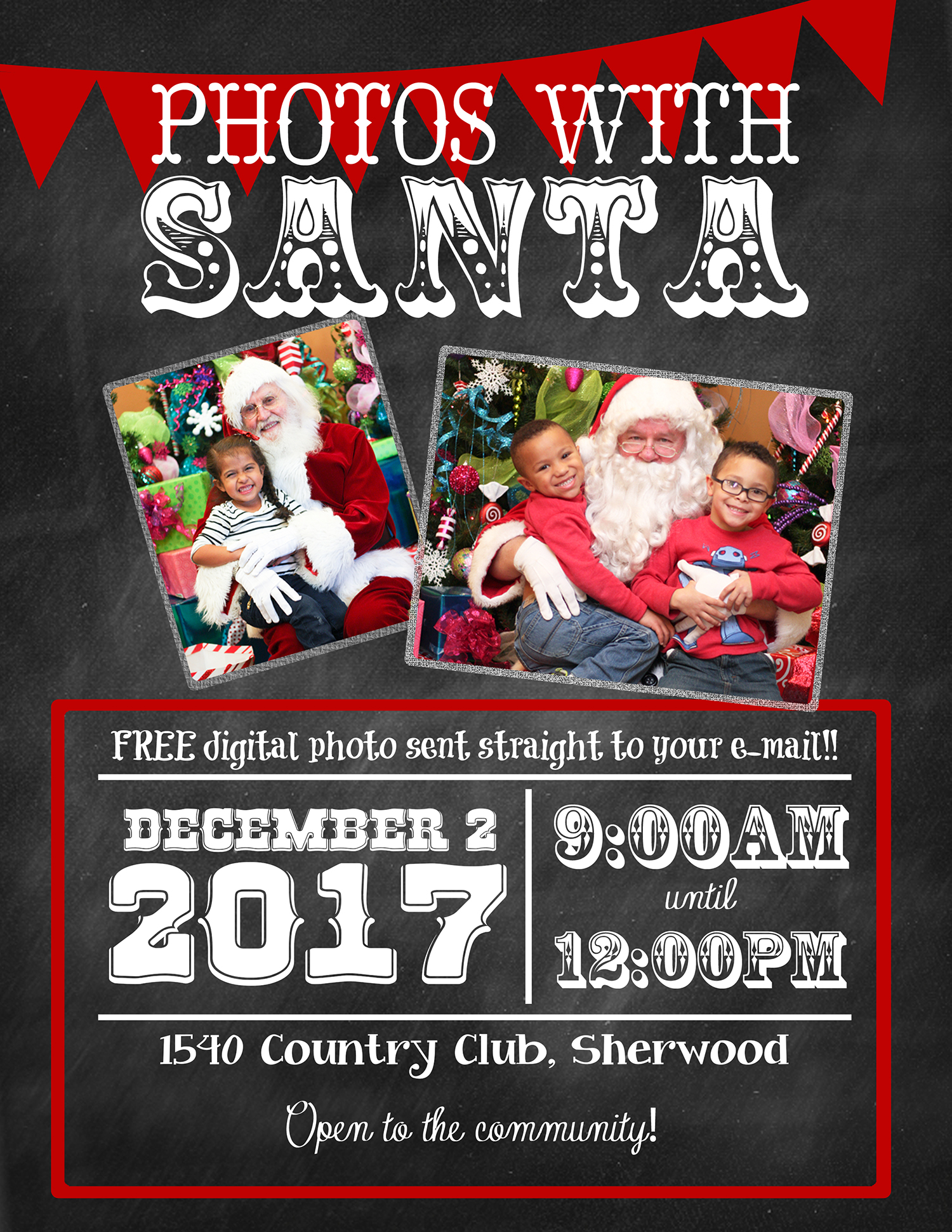 Photos with Santa Day Sherwood Sign for web