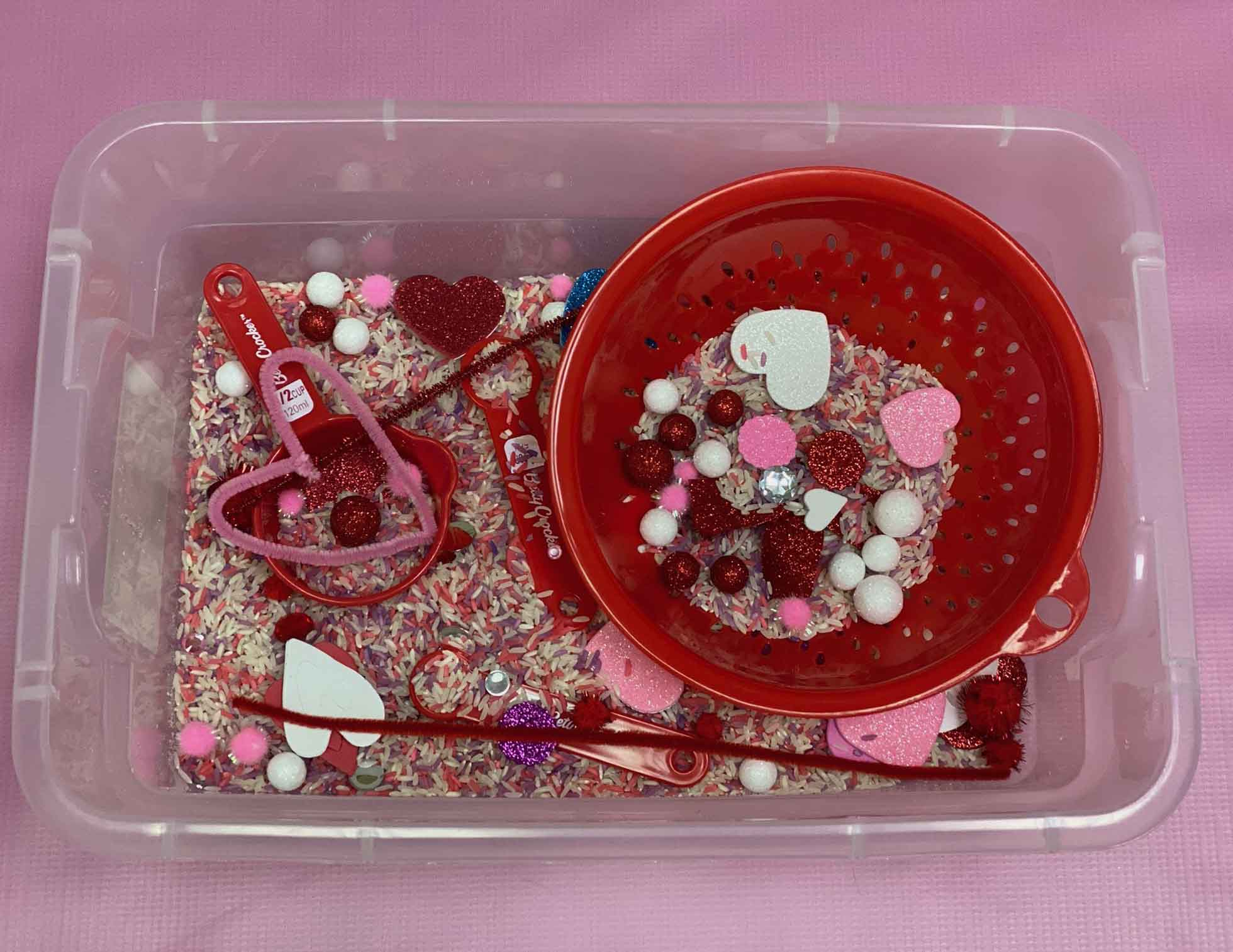 February Sensory Bin | Can't Help Falling in Love...with Peds Plus