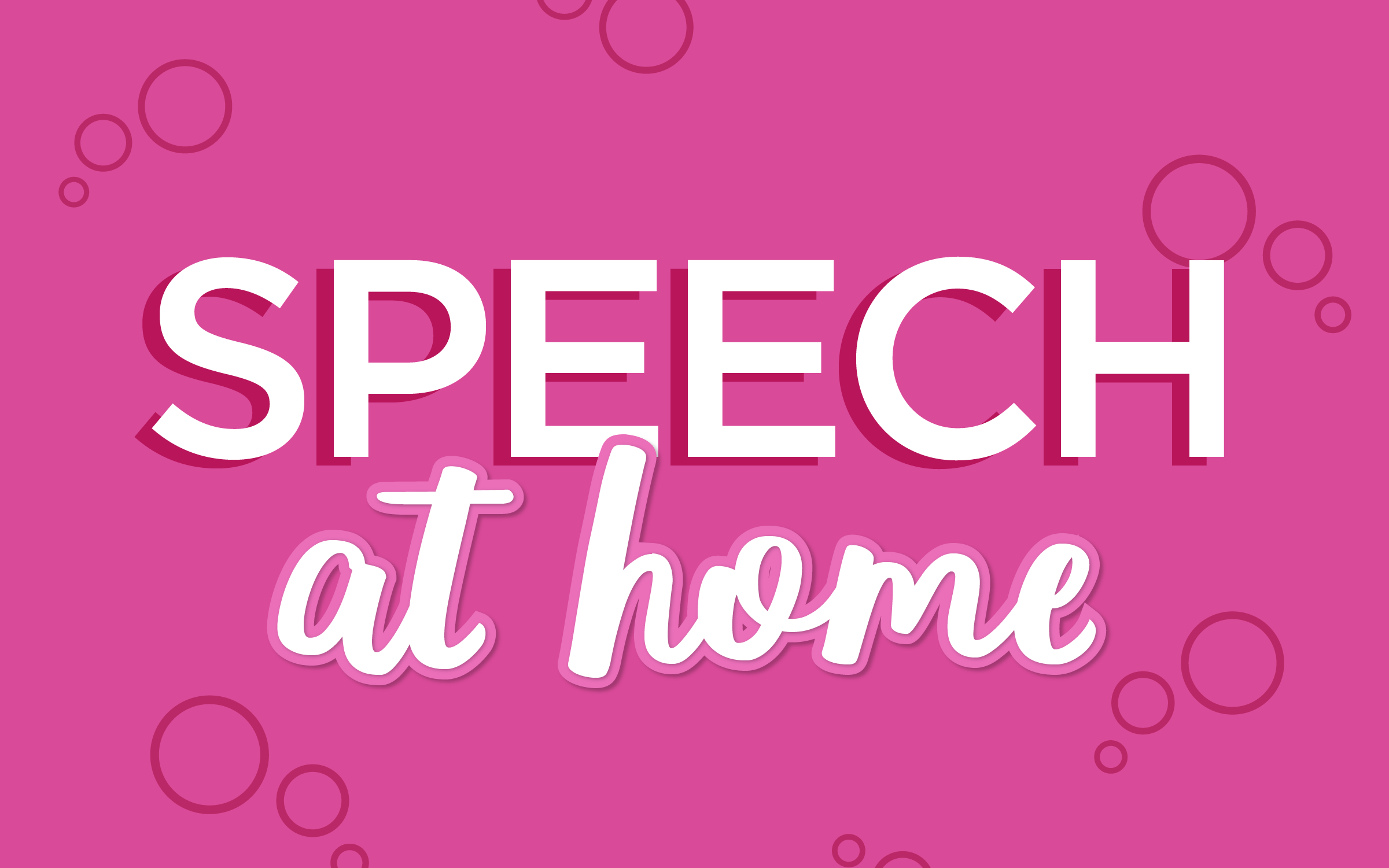 Speech Therapy at Home