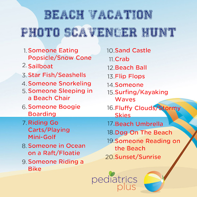 Photo Scavenger Hunt Beach 2015