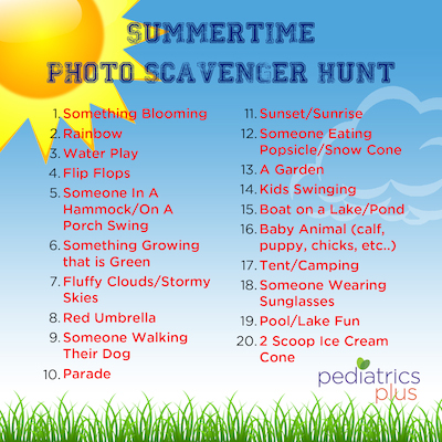 Photo Scavenger Hunt Summer 2015